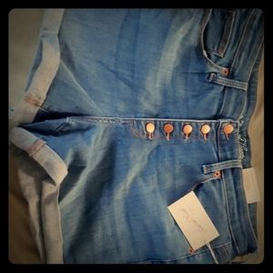 Highrise jean shorts